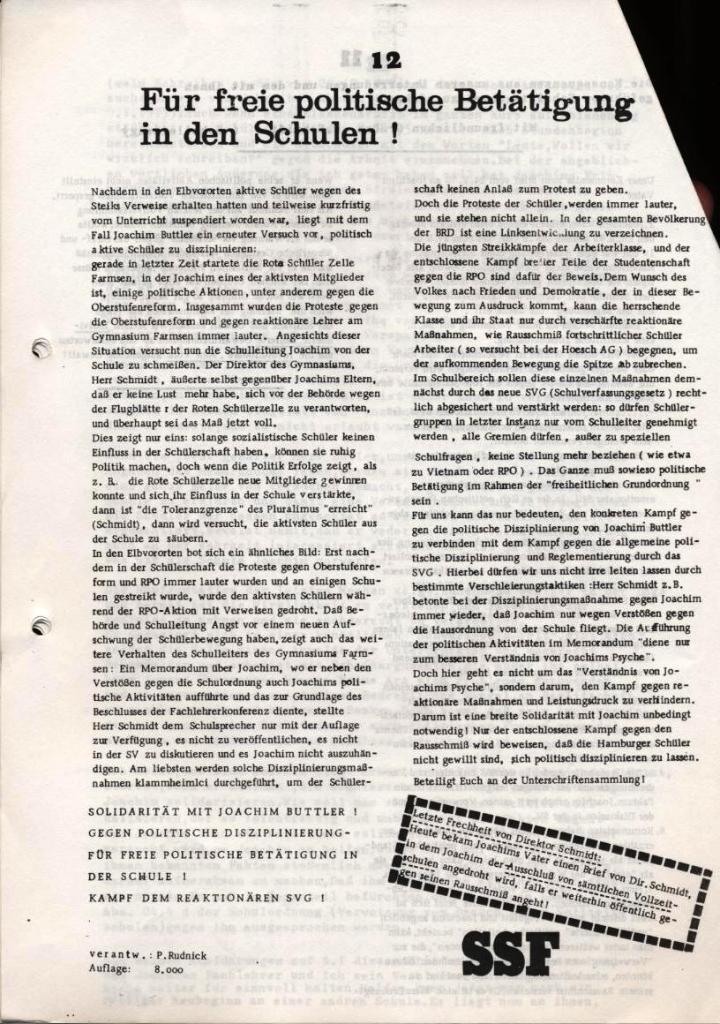 Broschüre: Kurze Dokumentation zum Fall Joachim Buttler, Seite 12