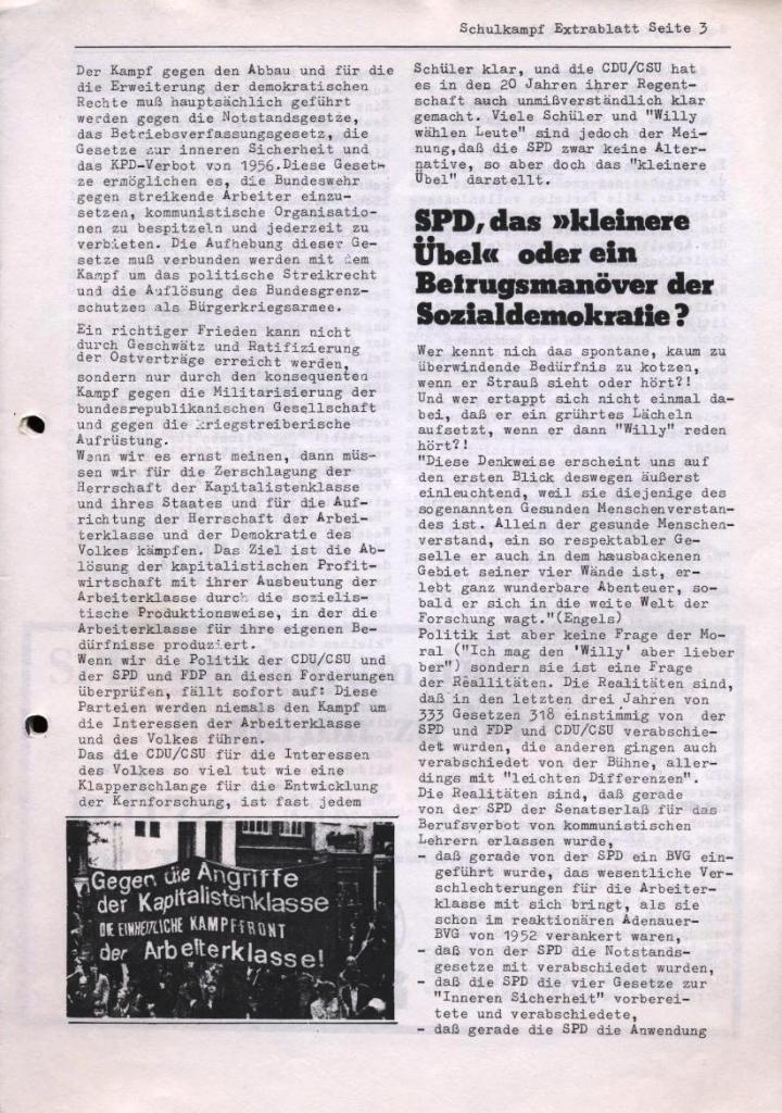 Schulkampf, Extrablatt, Hamburg, 16.11.1972, Seite 3