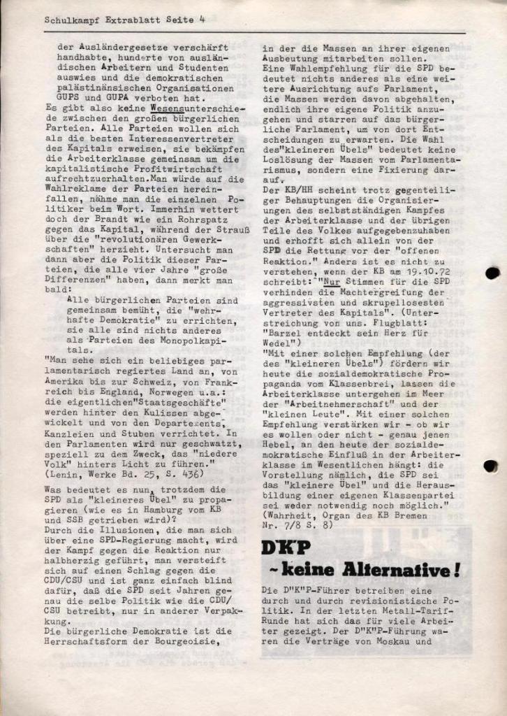 Schulkampf, Extrablatt, Hamburg, 16.11.1972, Seite 4
