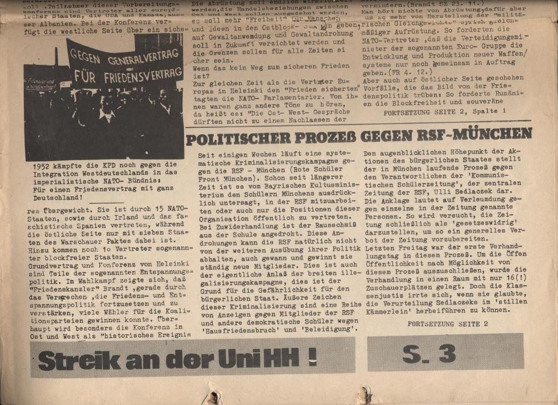 Schulkampf, Nr. 2, Hamburg, 13.11.1972, Seite 1