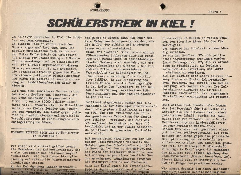 Schulkampf, Nr. 2, Hamburg, 13.11.1972, Seite 3