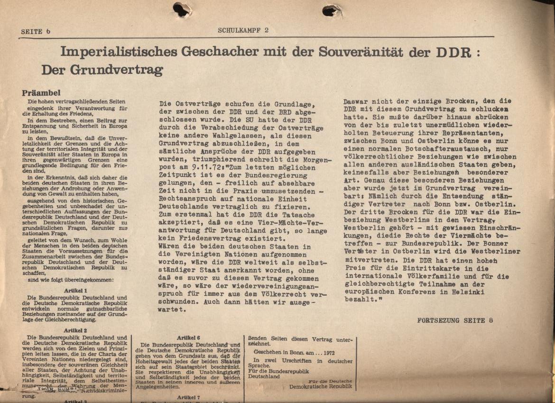 Schulkampf, Nr. 2, Hamburg, 13.11.1972, Seite 6