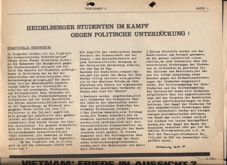 Schulkampf, Nr. 2, Hamburg, 13.11.1972, Seite 9