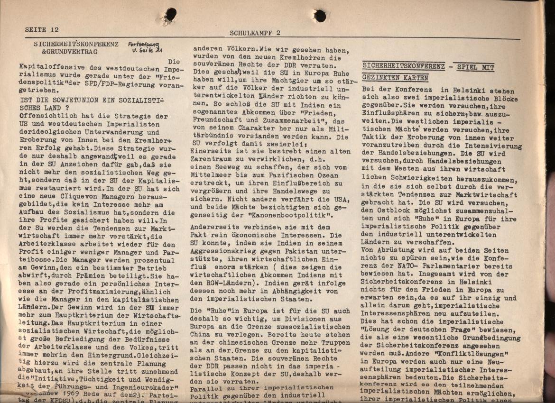 Schulkampf, Nr. 2, Hamburg, 13.11.1972, Seite 12