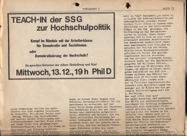 Schulkampf, Nr. 2, Hamburg, 13.11.1972, Seite 13