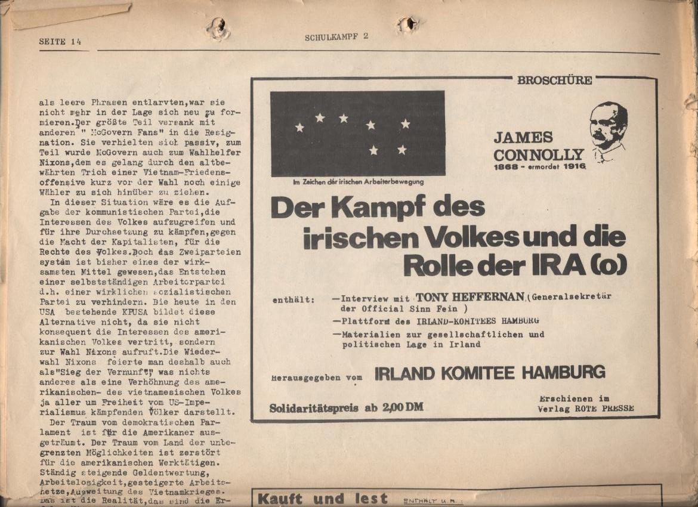 Schulkampf, Nr. 2, Hamburg, 13.11.1972, Seite 14