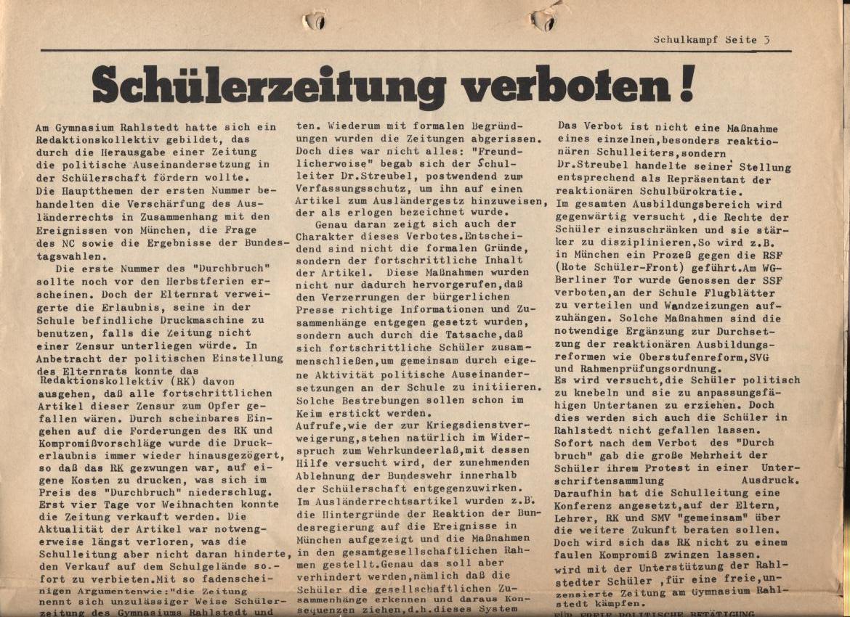 Schulkampf, Nr. 1, Hamburg, 12.1.1973, Seite 3