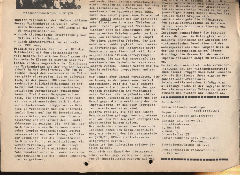 Schulkampf, Nr. 1, Hamburg, 12.1.1973, Seite 6