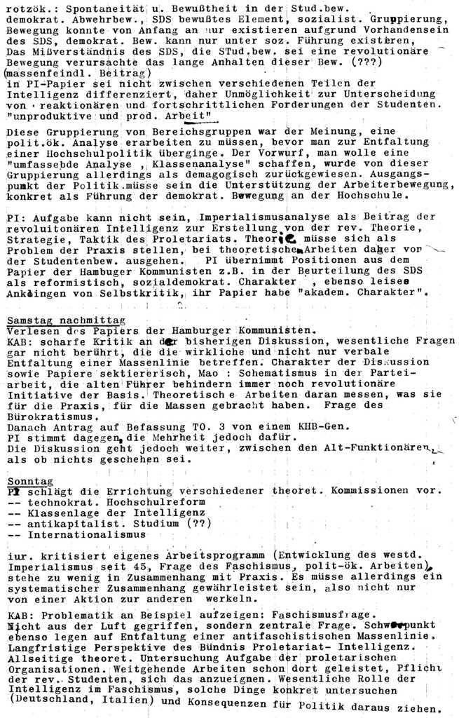 Bild zu Sympathisanten des SALZ (SdS) an den Hamburger Hochschulen