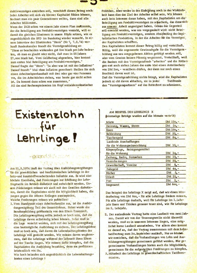 Informationen für die Kollegen von Steinway und Sons, hrsg. vom KBW, Ortsgruppe Hamburg, 28.02.1974, Seite 4