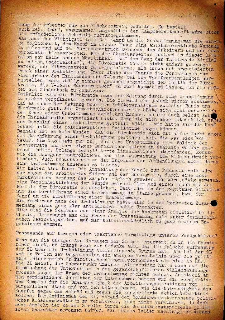 Spartacus _ Gewerkschaftskommission Rhein_Main: Bulletin Chemietarifrunde 1971, Seite 2