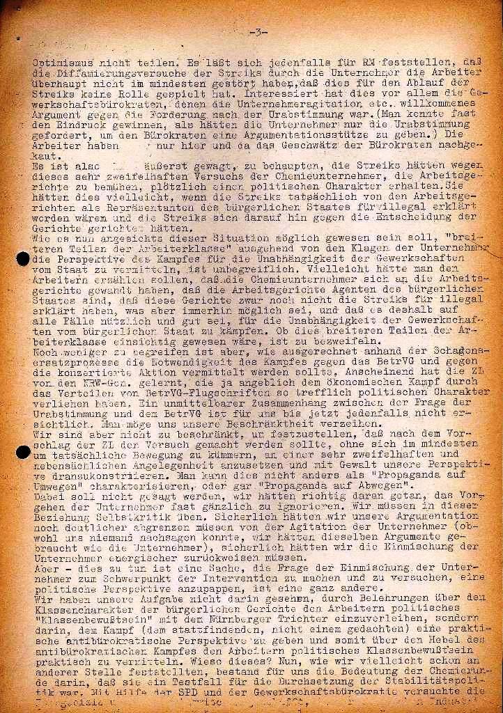 Spartacus _ Gewerkschaftskommission Rhein_Main: Bulletin Chemietarifrunde 1971, Seite 3