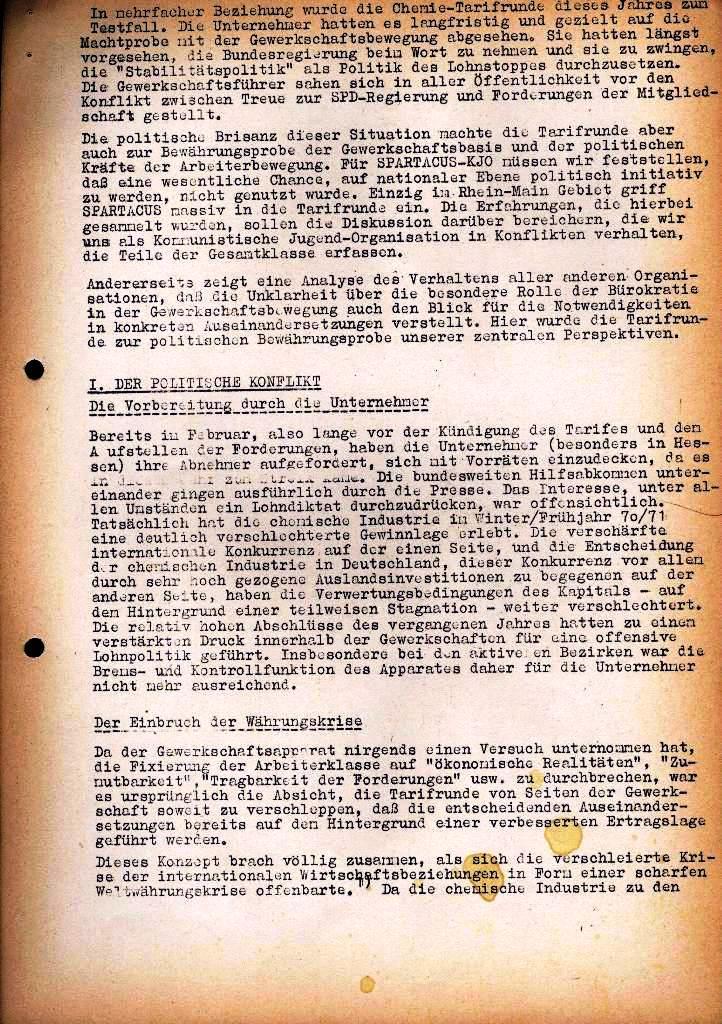 Spartacus _ Gewerkschaftskommission Rhein_Main: Bulletin Chemietarifrunde 1971, Seite 4a