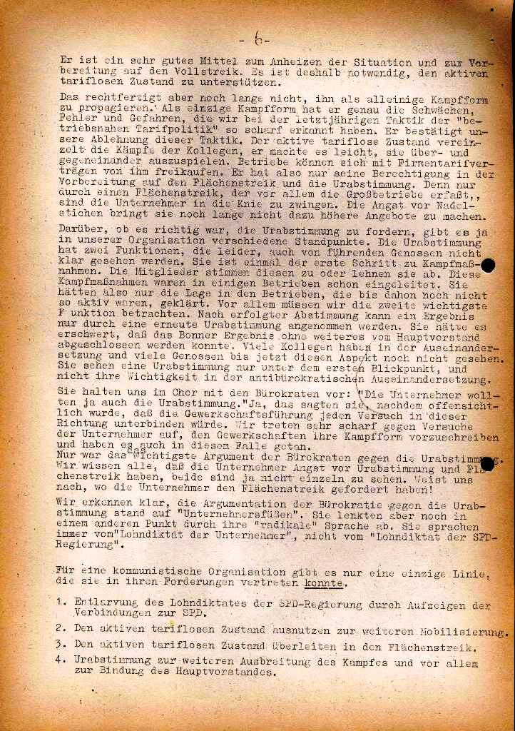 Spartacus _ Gewerkschaftskommission Rhein_Main: Bulletin Chemietarifrunde 1971, Seite 6
