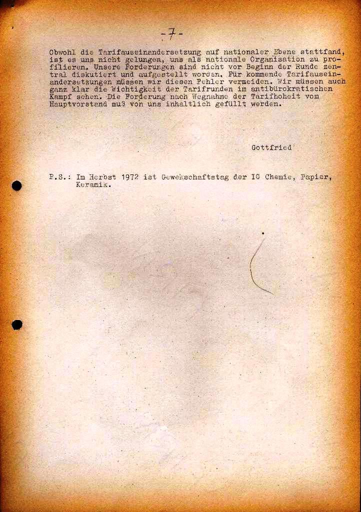 Spartacus _ Gewerkschaftskommission Rhein_Main: Bulletin Chemietarifrunde 1971, Seite 7