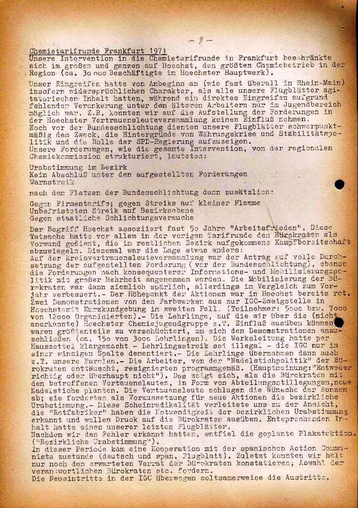 Spartacus _ Gewerkschaftskommission Rhein_Main: Bulletin Chemietarifrunde 1971, Seite 8