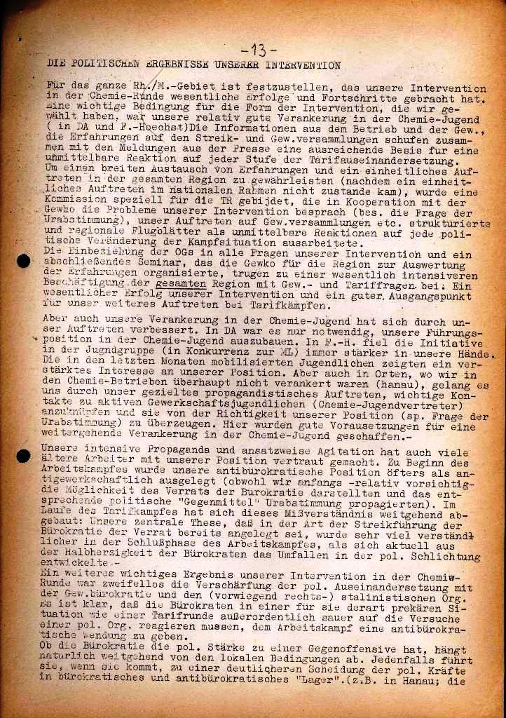 Spartacus _ Gewerkschaftskommission Rhein_Main: Bulletin Chemietarifrunde 1971, Seite 13