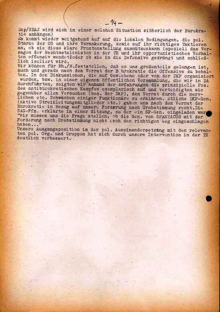 Spartacus _ Gewerkschaftskommission Rhein_Main: Bulletin Chemietarifrunde 1971, Seite 14