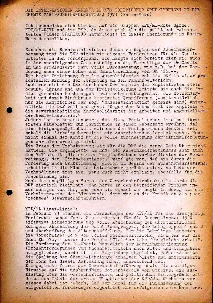 Spartacus _ Gewerkschaftskommission Rhein_Main: Bulletin Chemietarifrunde 1971, Seite 15