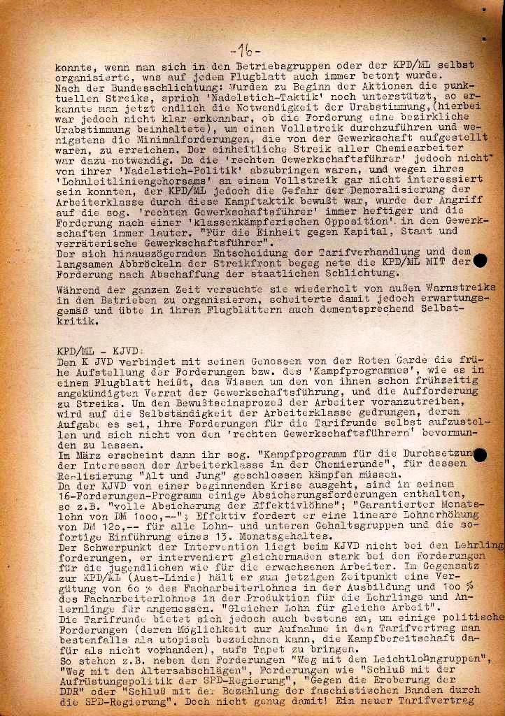 Spartacus _ Gewerkschaftskommission Rhein_Main: Bulletin Chemietarifrunde 1971, Seite 16
