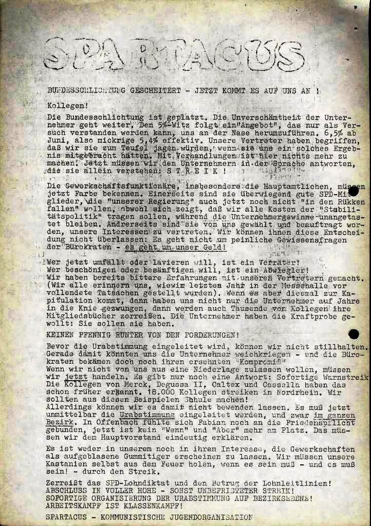 Spartacus _ Gewerkschaftskommission Rhein_Main: Bulletin Chemietarifrunde 1971, Seite 18