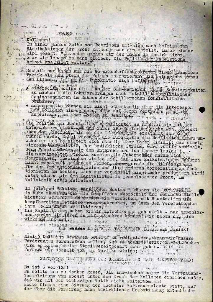 Spartacus _ Gewerkschaftskommission Rhein_Main: Bulletin Chemietarifrunde 1971, Seite 20