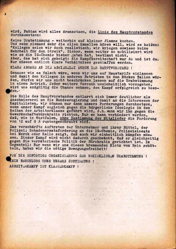 Spartacus _ Gewerkschaftskommission Rhein_Main: Bulletin Chemietarifrunde 1971, Seite 21