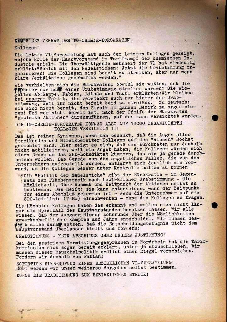 Spartacus _ Gewerkschaftskommission Rhein_Main: Bulletin Chemietarifrunde 1971, Seite 22