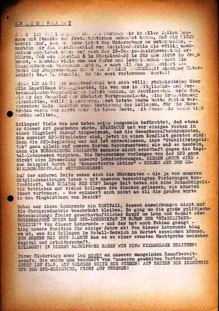 Spartacus _ Gewerkschaftskommission Rhein_Main: Bulletin Chemietarifrunde 1971, Seite 23