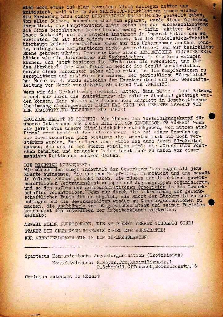 Spartacus _ Gewerkschaftskommission Rhein_Main: Bulletin Chemietarifrunde 1971, Seite 24