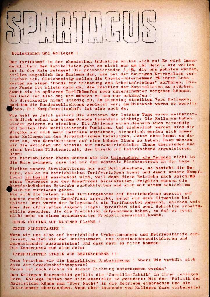 Spartacus _ Gewerkschaftskommission Rhein_Main: Bulletin Chemietarifrunde 1971, Seite 25