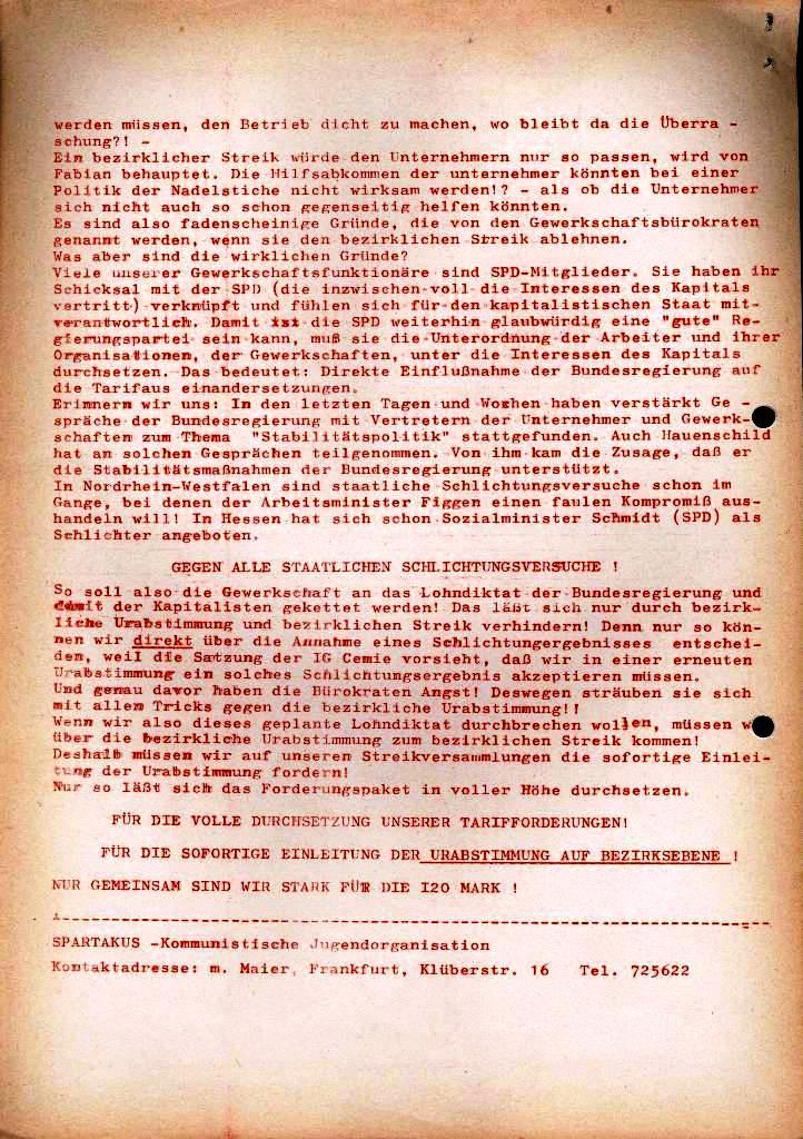 Spartacus _ Gewerkschaftskommission Rhein_Main: Bulletin Chemietarifrunde 1971, Seite 26