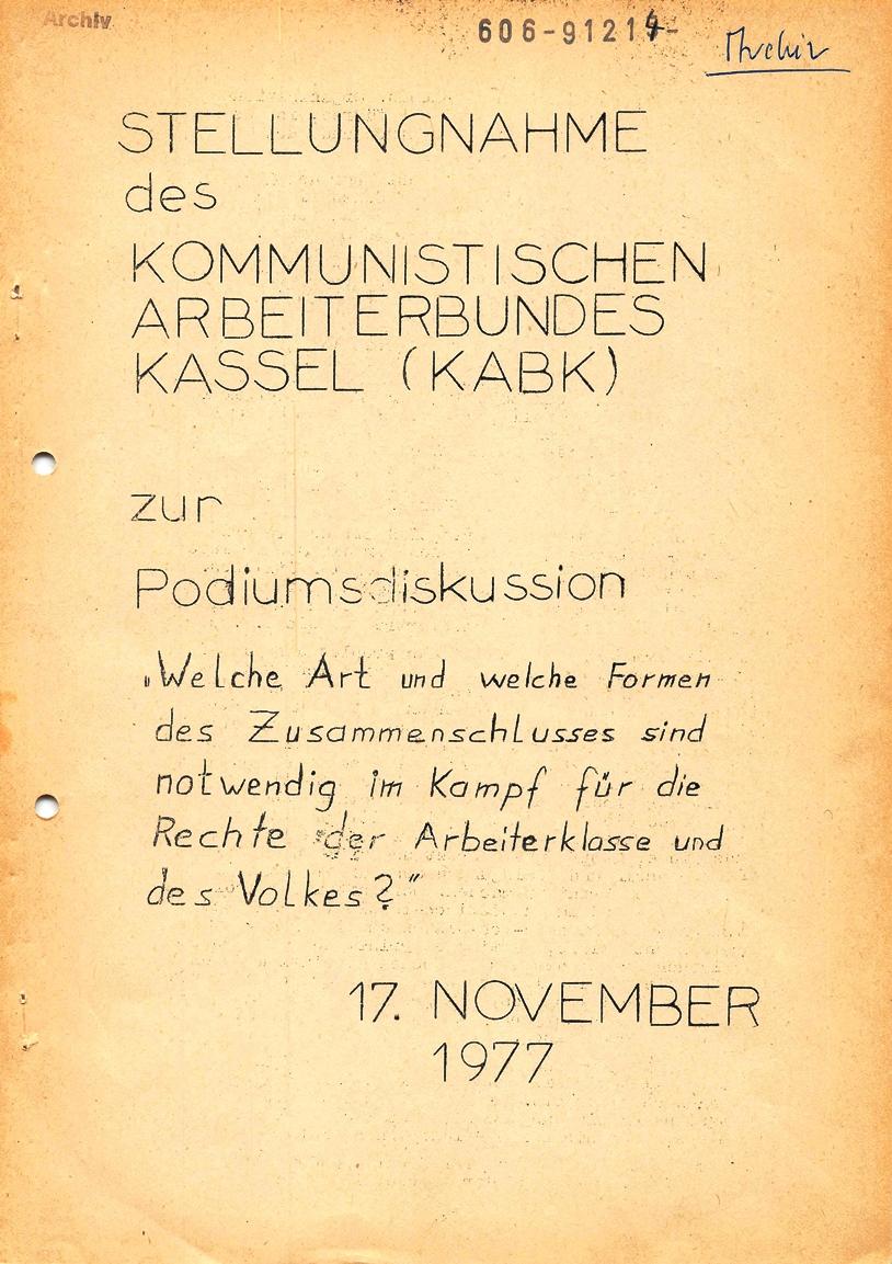 Kassel_KABK_1977_Stellungnahme_Podiumsdiskussion_01
