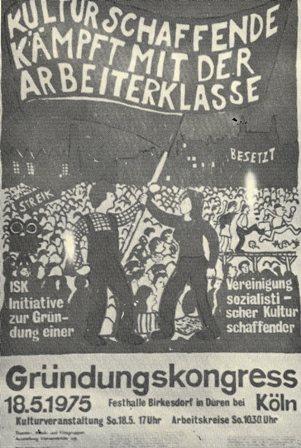 Plakat zur Gründung der ISK