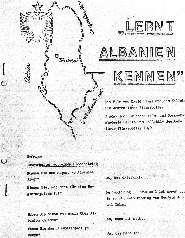 Lernt Albanien kennen (1972), Blatt 1