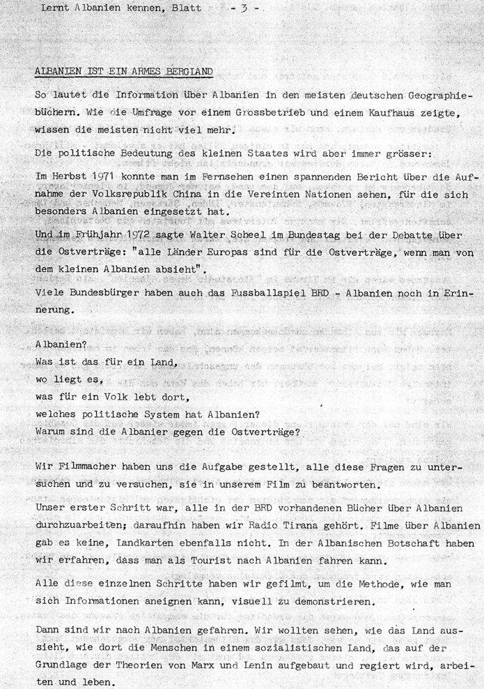 Lernt Albanien kennen (1972), Blatt 3