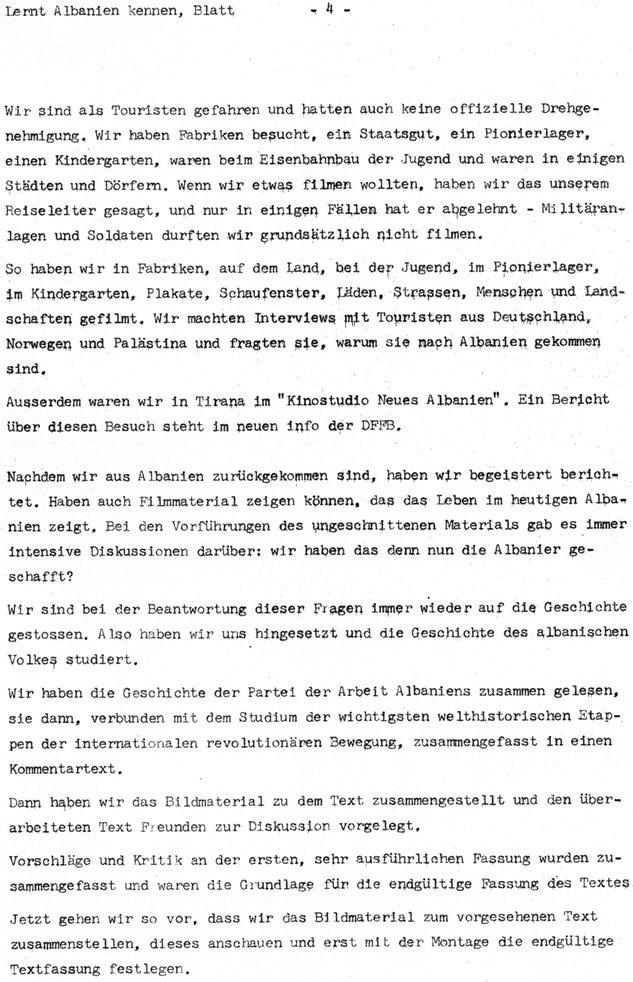 Lernt Albanien kennen (1972), Blatt 4