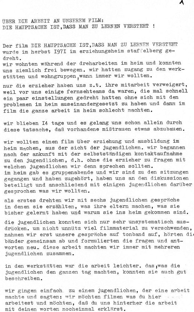 Über die Arbeit am Staffelberg_Film (1971), Seite 1