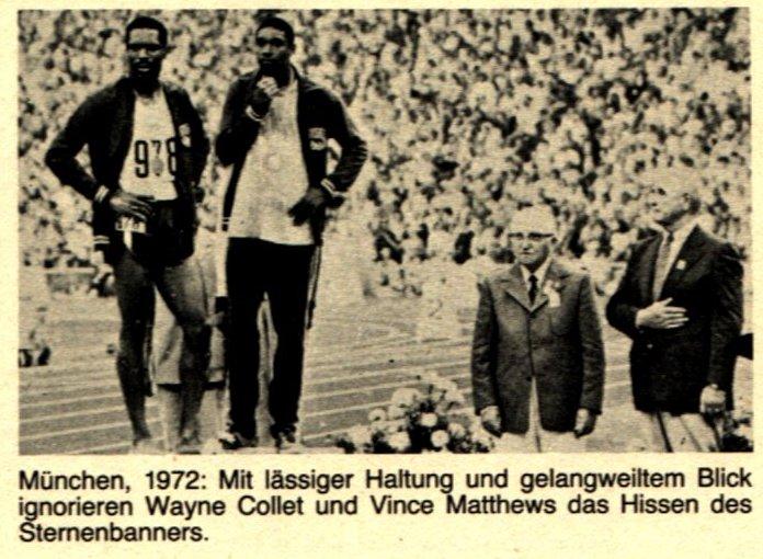 München 1972, Wayne Collet und Vince Matthews