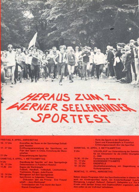 2. Werner-Seelenbinder-Sportfest 1977 in Frankfurt/M.