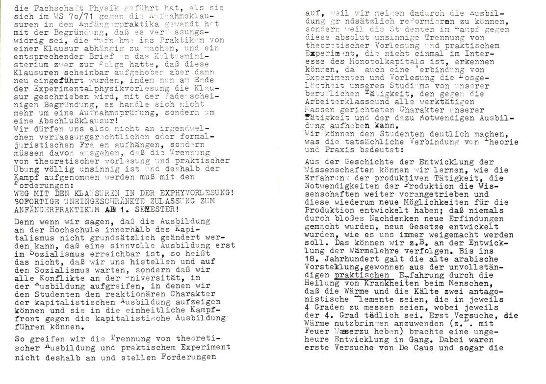 Bochum_KSV_VDS_1972_Experimentalphysikklausur_11