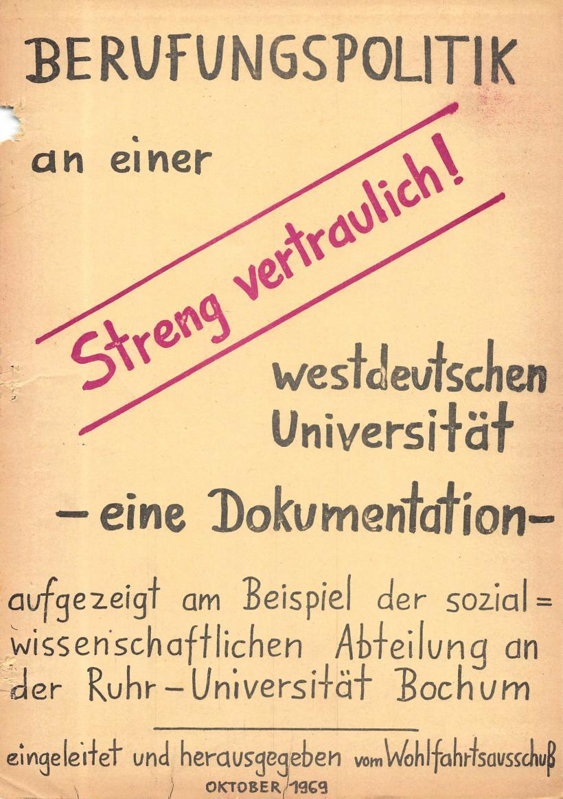 Bochum_VDS_1969_RUB_Berufungspolitik_000