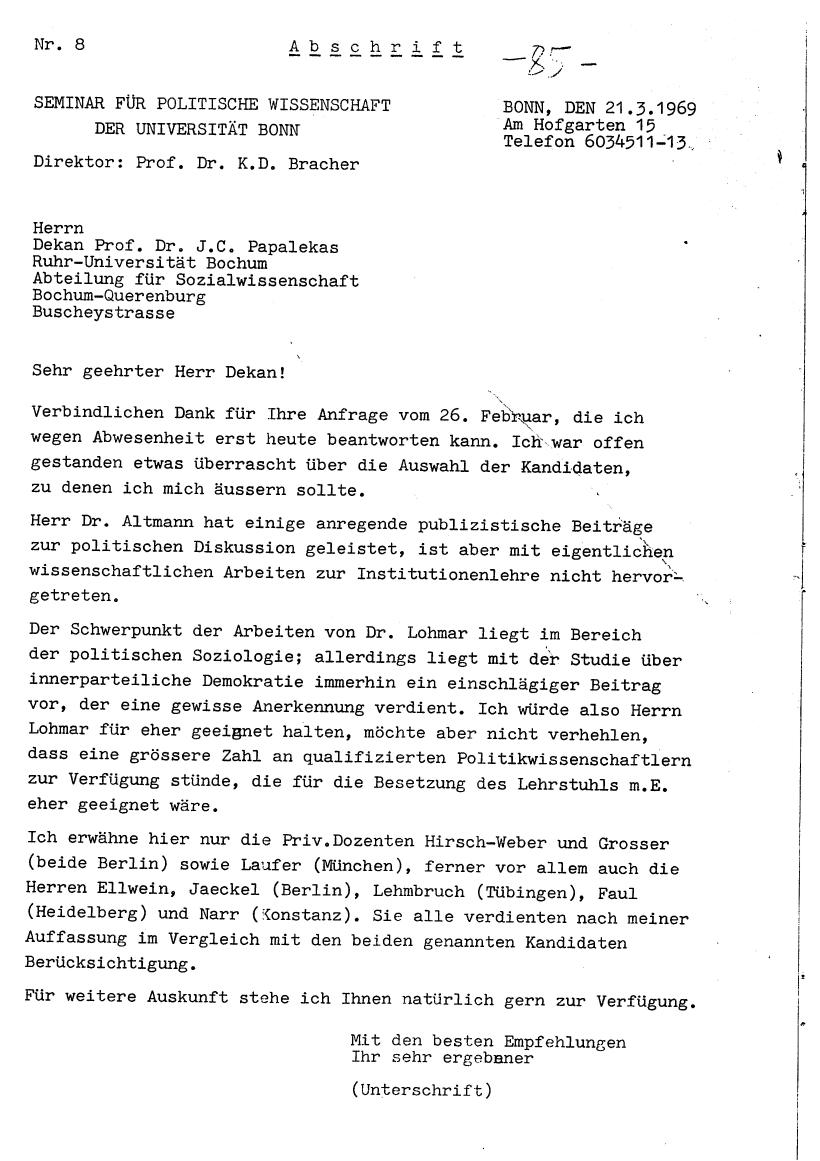 Bochum_VDS_1969_RUB_Berufungspolitik_095