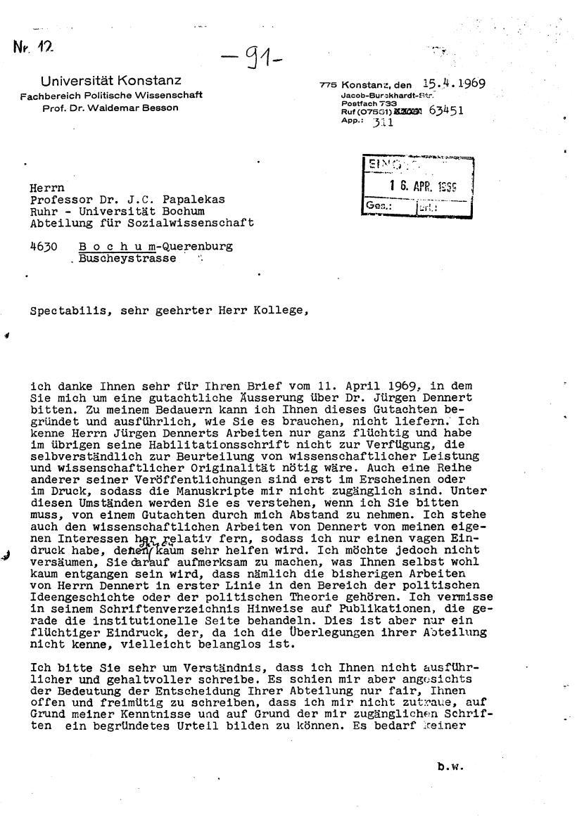 Bochum_VDS_1969_RUB_Berufungspolitik_101