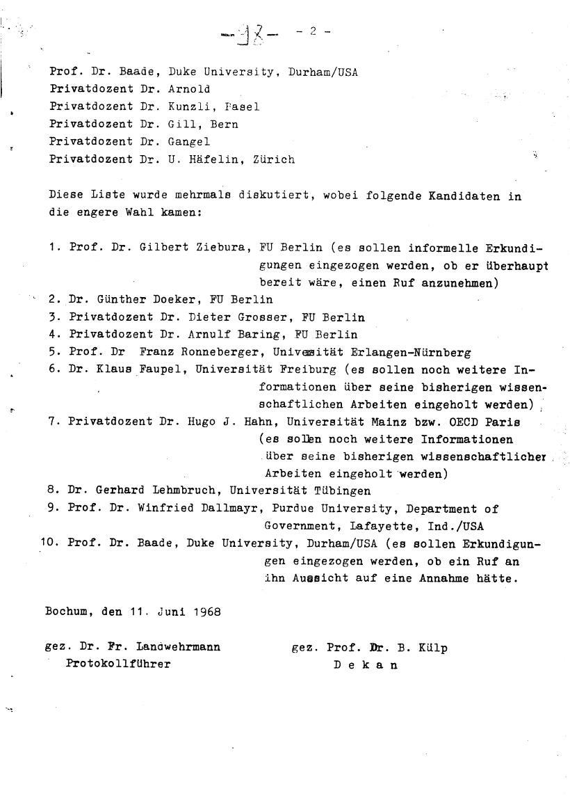 Bochum_VDS_1969_RUB_Berufungspolitik_108