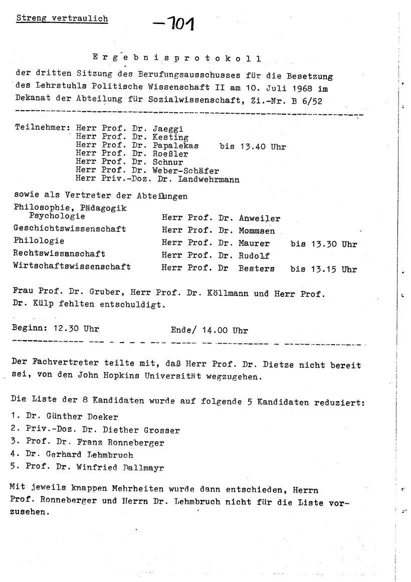 Bochum_VDS_1969_RUB_Berufungspolitik_111
