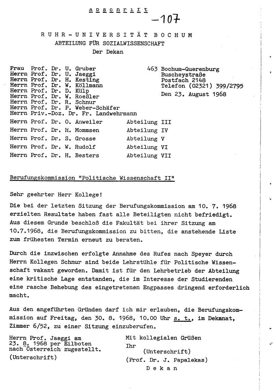 Bochum_VDS_1969_RUB_Berufungspolitik_117