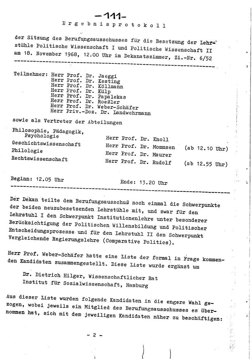 Bochum_VDS_1969_RUB_Berufungspolitik_121