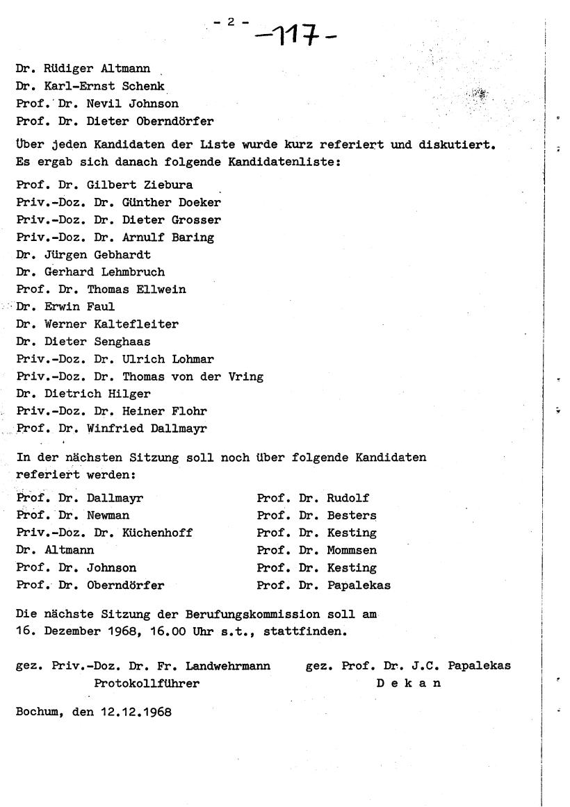 Bochum_VDS_1969_RUB_Berufungspolitik_126