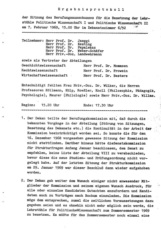 Bochum_VDS_1969_RUB_Berufungspolitik_127